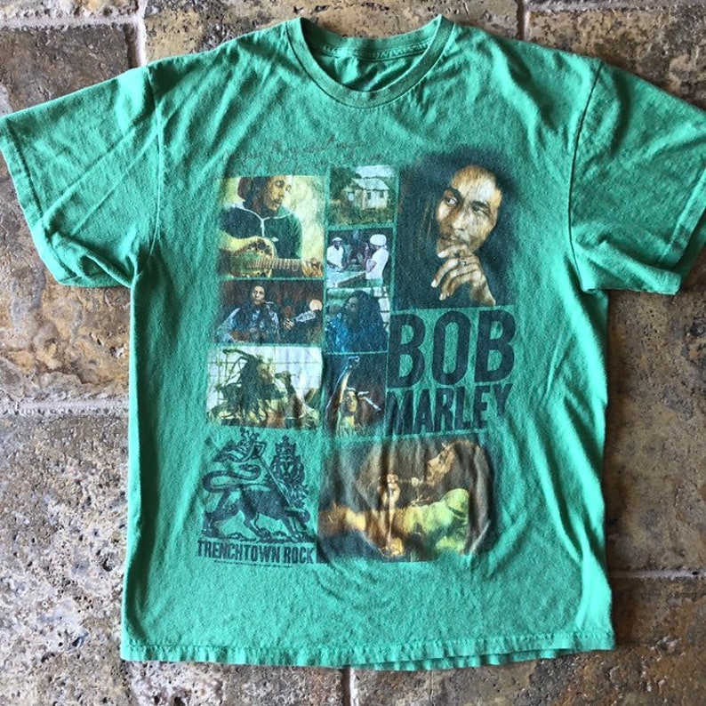 6dfe4a40d8d Bob Marley Graphic Portrait Band T-Shirt Trenchtown Rock
