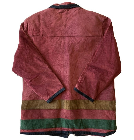 Vintage Maggie Lawrence Red Leather Renaissance M… - image 2