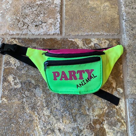Vintage Party Animal 80s Neon Color Block Sportswe