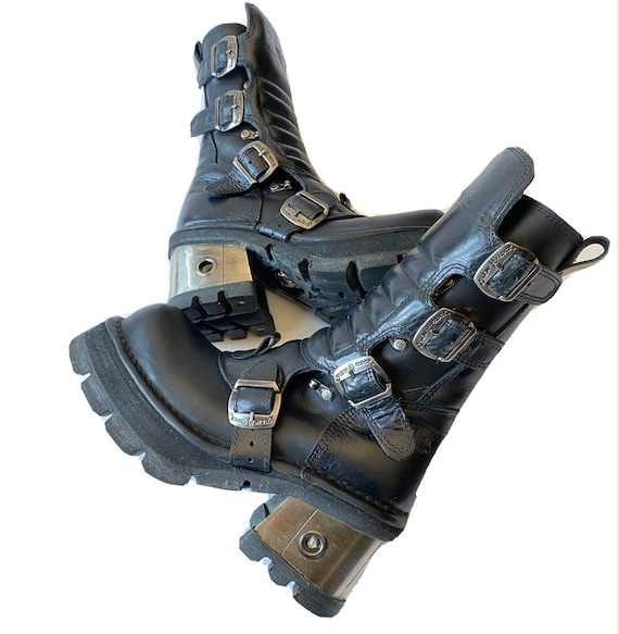 New Rock Original Gothic Leather Metal Platform He