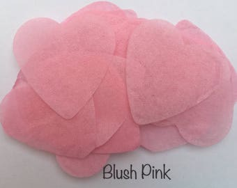 Pink Biodegradable Confetti Hearts (Light Pink) for Wedding, Party, Baby Shower, Gender reveal