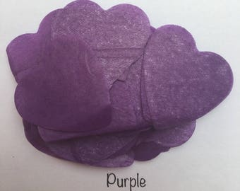 Purple Biodegradable Confetti Hearts for Wedding, Party, Baby Shower, Gender reveal