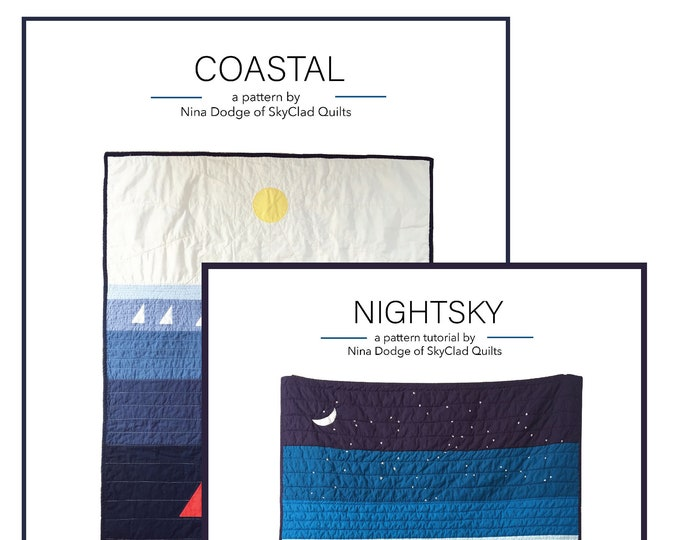 NightSky and Coastal Quilt Pattern Package!