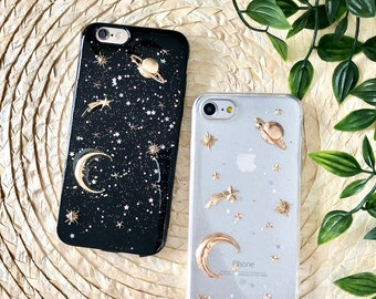 2019 Latest Design For Iphone Xs Max 6 6s 7 8 Plus Plastic Back Cover Moon Sky Ship Forest Lovely Deer Art Pattern Hard Case Printing Phone Case Phone Bags & Cases