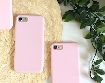 37854590f0 Plain simple pink iPhone case shockproof phone case iPhone 6 6s X XR Xs Max  7 7plus 8 8plus 6splus 6plus