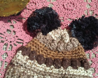 Beautiful crochet kid hat for girl 2 to 3 year old