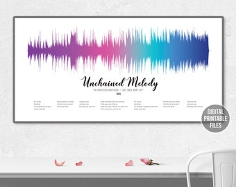 Wedding Gifts for Couples Bridal Shower Gifts Personalized Wedding Gifts The Righteous Brothers Unchained Melody Unique Photo Gifts