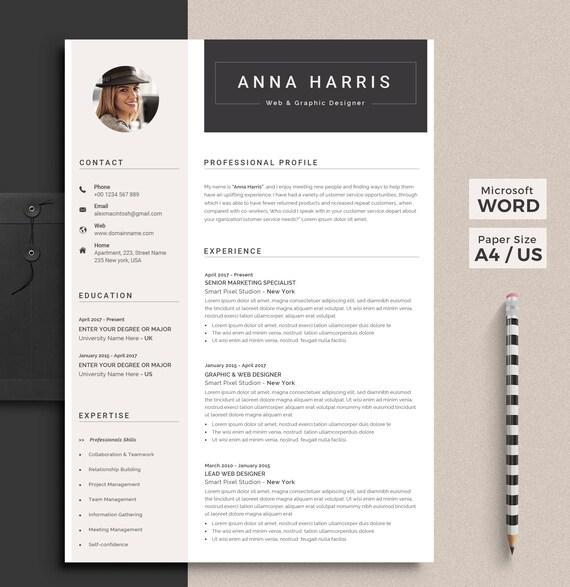 Professional Resume Template Word Resume Cv Template Modern Resume Creative Resume Resume Design Nurse Resume Docx