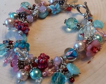 Lampwork Bead Bracelet, Candyland