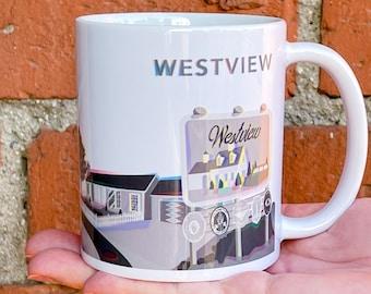 """Westview Retro """"You Aren't Here"""" Mug"""