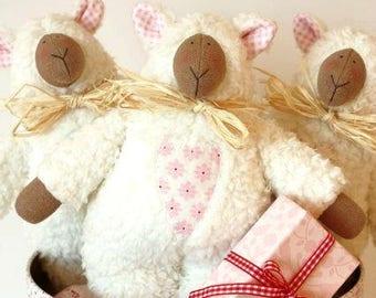 Toy Lamb, Lamb, Plush Lamb,  Tilda Lamb, Soft Lamb, Tilda Handmade