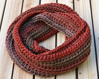 Ombre Scarf, Infinity Scarf, Autumn Scarf, Fall Scarf, Ombre Infinity Scarf, Crochet Scarf, Multicolor Scarf, Circle Scarf, Soft Scarf