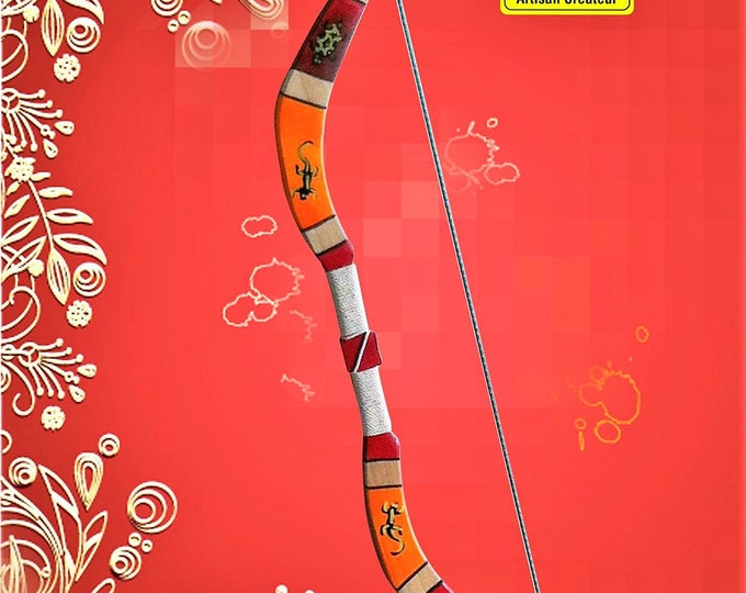 Featured listing image: Wooden arches size 75 cm with 5 arrows a suction cup for children - 5 years and 1 target in paper - 1 laminated target