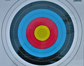 Target paper laminated 42/42 cm (for arrows a suction cup)