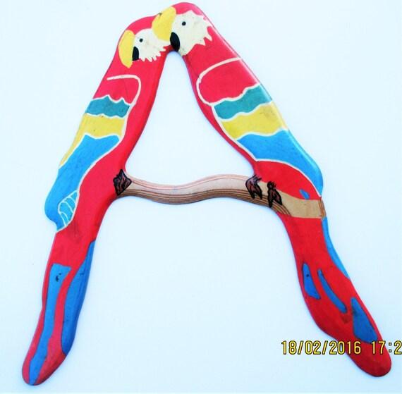 BOOMERANG  barabao ,taille 39 cm ,epaisseur 4 mn ,en bois , portee 20 m