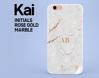 Personalized white marble name phone case for iPhone 6,6s,5,5s,se,7,8,7 plus,8 plus, X, custom initials phone cover, personalized, tough