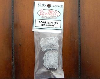 N scale - Bar Mills, Coal Bins (2 pack)