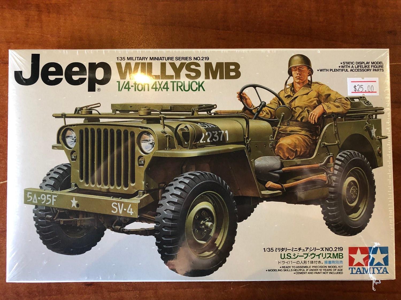 Tamiya 1/35 U S  Jeep Willys MB 1/4 ton 4x4 truck- model kit