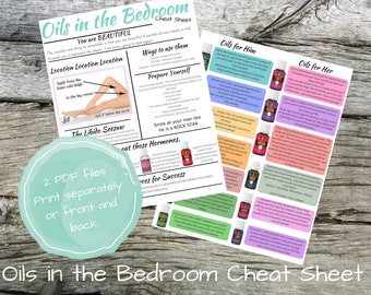 Oils in the Bedroom Chest Sheet Printable