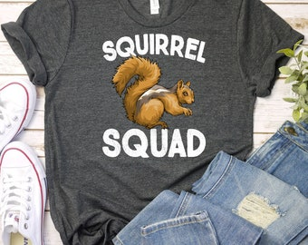 635a4c9ed4 Squirrel Squad Shirt, Tank Top, Hoodie, Squirrel Shirt, Squirrel Gift,  Squirrel, Squirrel Tshirt, Funny Squirrel Shirt