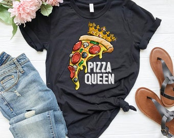 3dcf7380e0 Pizza Queen - Pizza shirt - Pizza lover - Pizza t-shirt - Pizza birthday -  Pizza party - Funny pizza shirt - Pizza love - Love pizza