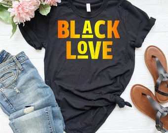 5c6338bff Black Love Gold Shirt - Black Magic - Black lives matter - Black pride shirt  - Black and educated - Gift for blacks