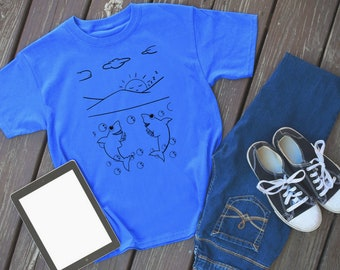 Shark Story Scene 8 - shark tshirt - shark shirt - shark - shark tee - shark outfit - animal shirt - shark lover - shark theme - shark