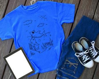 Scene 9 - Shark Story - shark tshirt - shark shirt - shark - shark tee - shark outfit - animal shirt - shark lover - shark theme