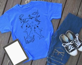 Shark Story Scene 1 - shark tshirt - shark shirt - shark - shark tee - shark outfit - animal shirt - shark lover - shark theme - shark