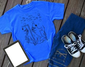 Scene 6 - Shark Story - shark tshirt - shark shirt - shark - shark tee - shark outfit - animal shirt - shark lover - shark theme