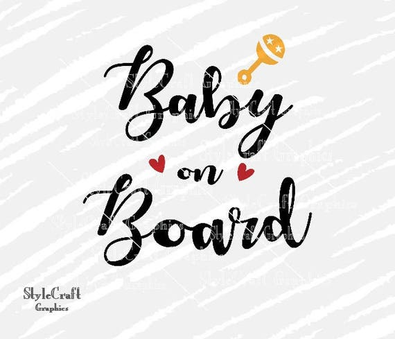 Baby On Board Svg Baby Announcement Svg Newborn Svg Etsy
