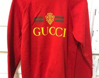 1f2f5c05712 Vintage 80s Gucci sweatshirt Hanes tag NICE
