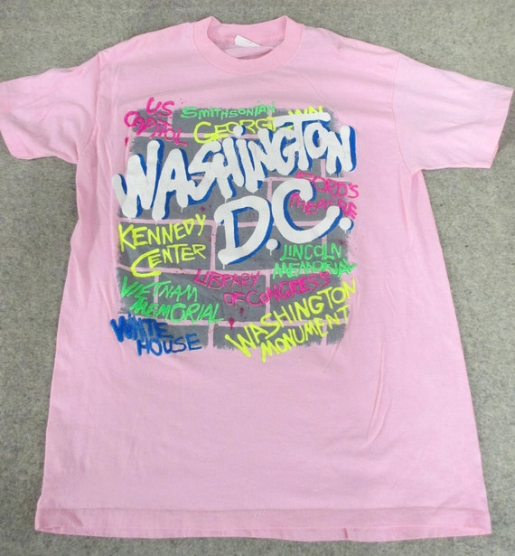 Vtg. 80s Washington, DC Tourist Souvenir T Shirt (