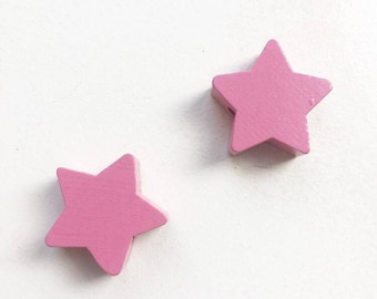 Wood star bead