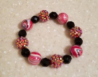 Black/Red Marble Bracelet