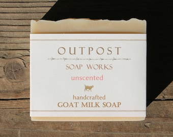 Handmade Goat Milk Soap - All Natural - UNSCENTED - Cold Processed