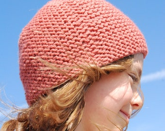 Rose knitted beanie