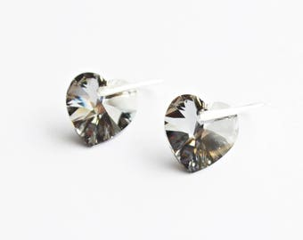 Swarovski silver night sterling silver earrings