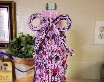 Signs of Spring Wine Bottle Gift Bag - Pink