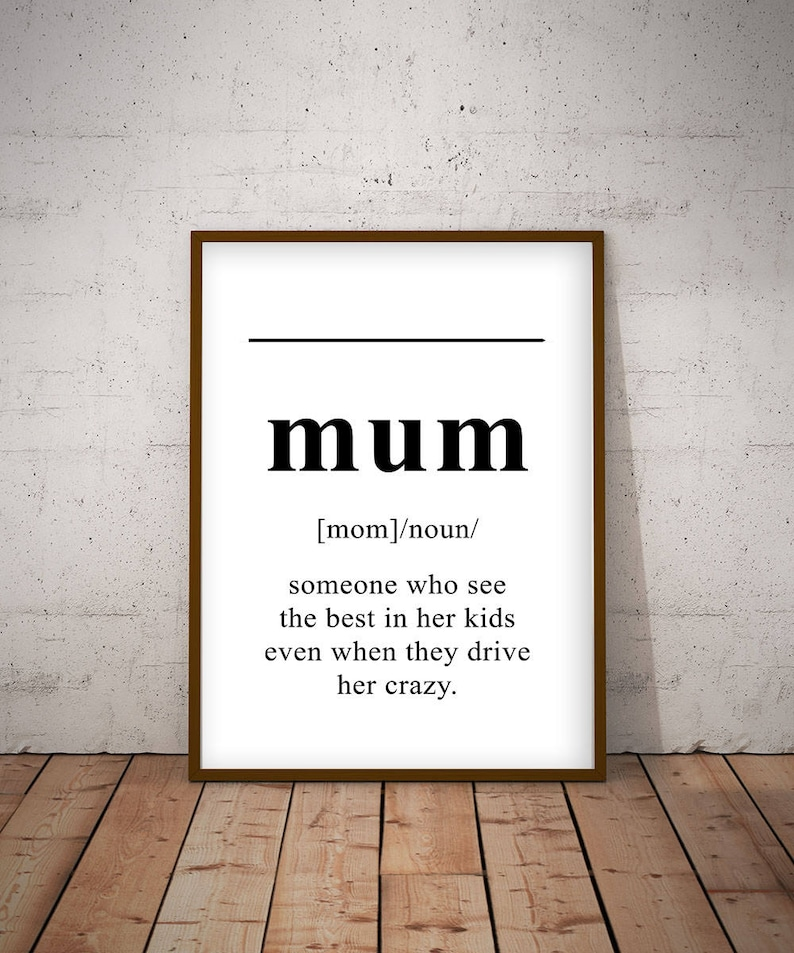 Definition of MOM, English Dictionary, gift mom  Wall Decor