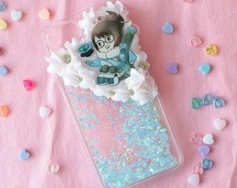 Fits iPhone 7/8 Overwatch Mei Glitterfall Decoden Case