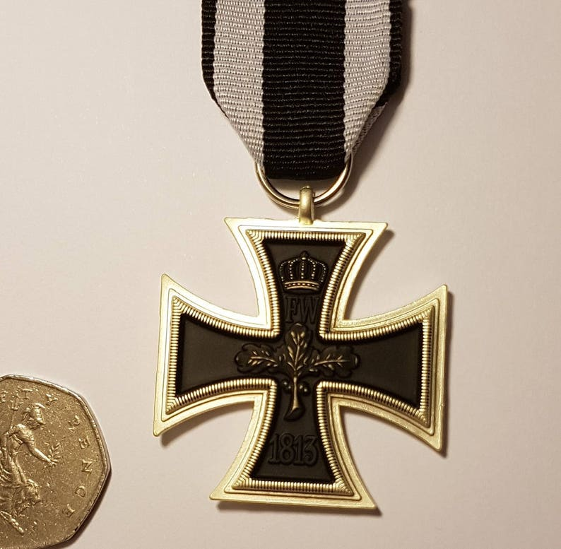 IRON CROSS 1813-1914 German Military Medal for Army Uniform WW1 Prussia  Repro Military Surplus remembrance gift for men