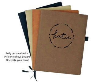 Personalized Leather Notebook // Personalized Leather Journal // Monogrammed Leather Journal // Custom Leather Gift // Personalized Notebook