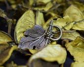 Grapevine leaf necklace