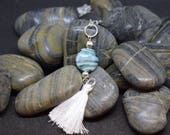 Hand blown Murano glass necklace with tassel