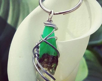 Jade Lily - Green Wrapped Cannabis Gemstone - Weed Resin Keychain - MMJ - Medical Grade - Hemp Product