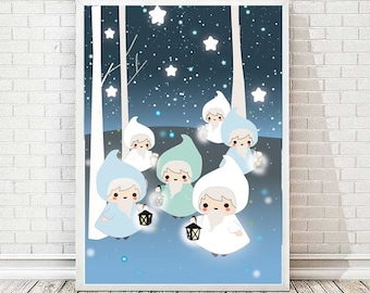 Starry sky poster