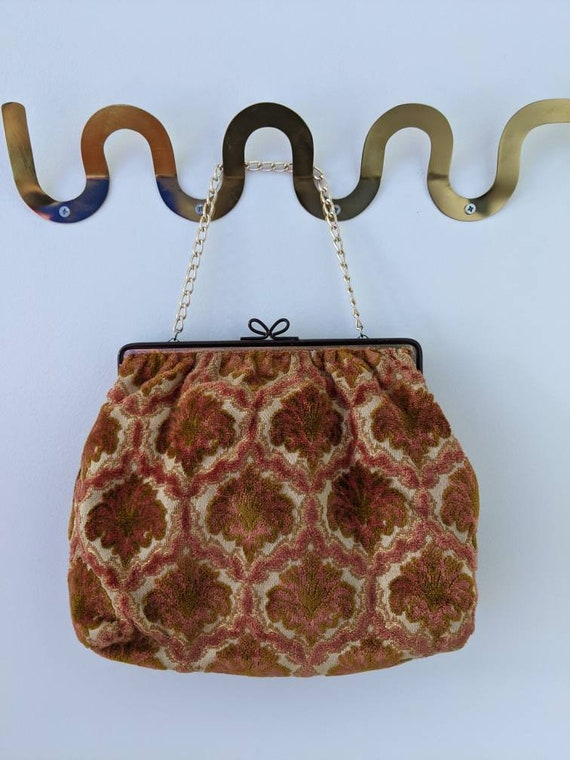 Vintage Tapestry Bag Matching Coin Purse