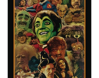 """61 - 18X24 POSTER PRINT - The Hilarious House Of Frightenstein """"Family Portrait"""""""