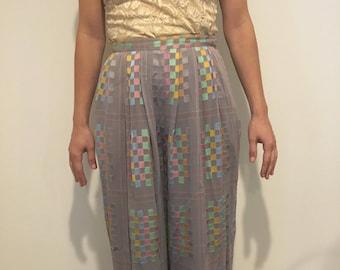 Vintage drapey wide-leg pants